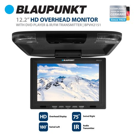blaupunkt 12 2 hd overhead monitor with dvd player and ir. Black Bedroom Furniture Sets. Home Design Ideas