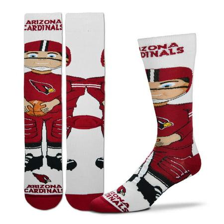 Arizona Cardinals For Bare Feet Youth Bobble Head Quarter-Length Socks - No Size