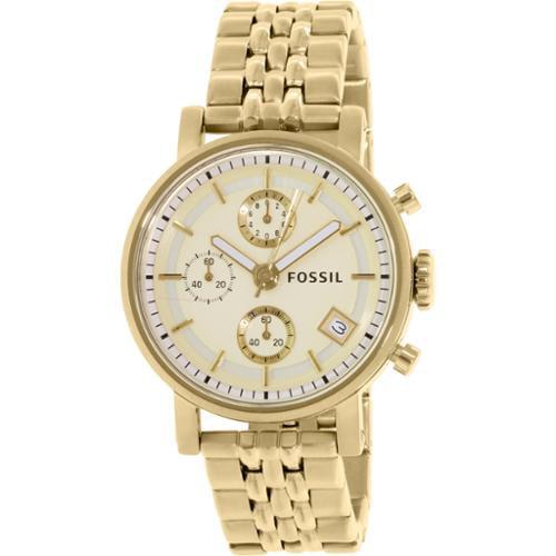 Women's Fossil Dress Gold-Tone Chronograph Watch ES2197