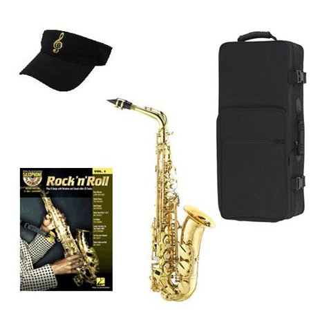 Rock N Roll Alto Saxophone Pack - Alto Sax w/Case, Accessories, Rock N Roll Play Along Vol 1 Book & Warranty ()