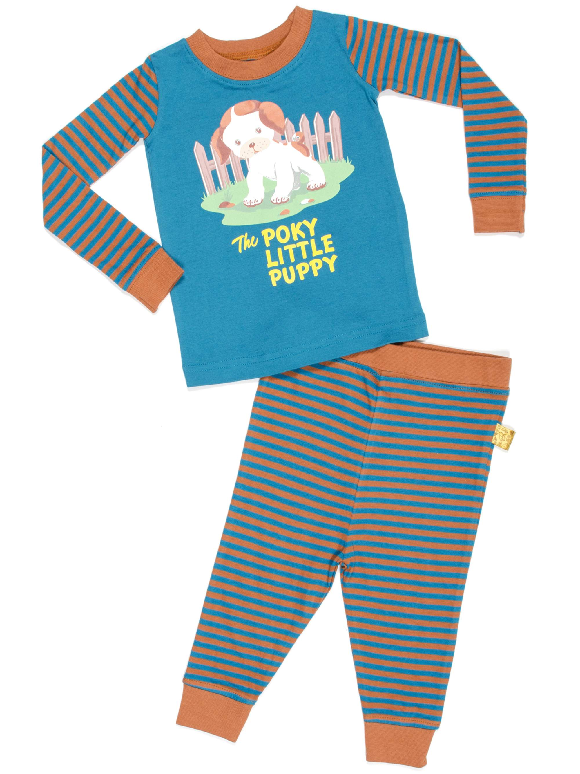 Golden Books Poky Puppy Baby Toddler Boy or Girl Unisex Pajamas 2pc Set