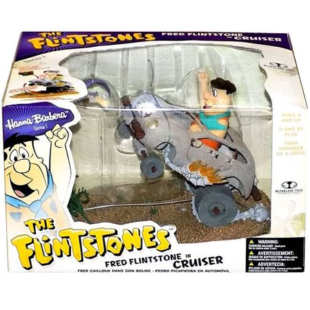 McFarlane Hanna-Barbera Series 1 Fred Flintstone in Cruiser Action Figure Set