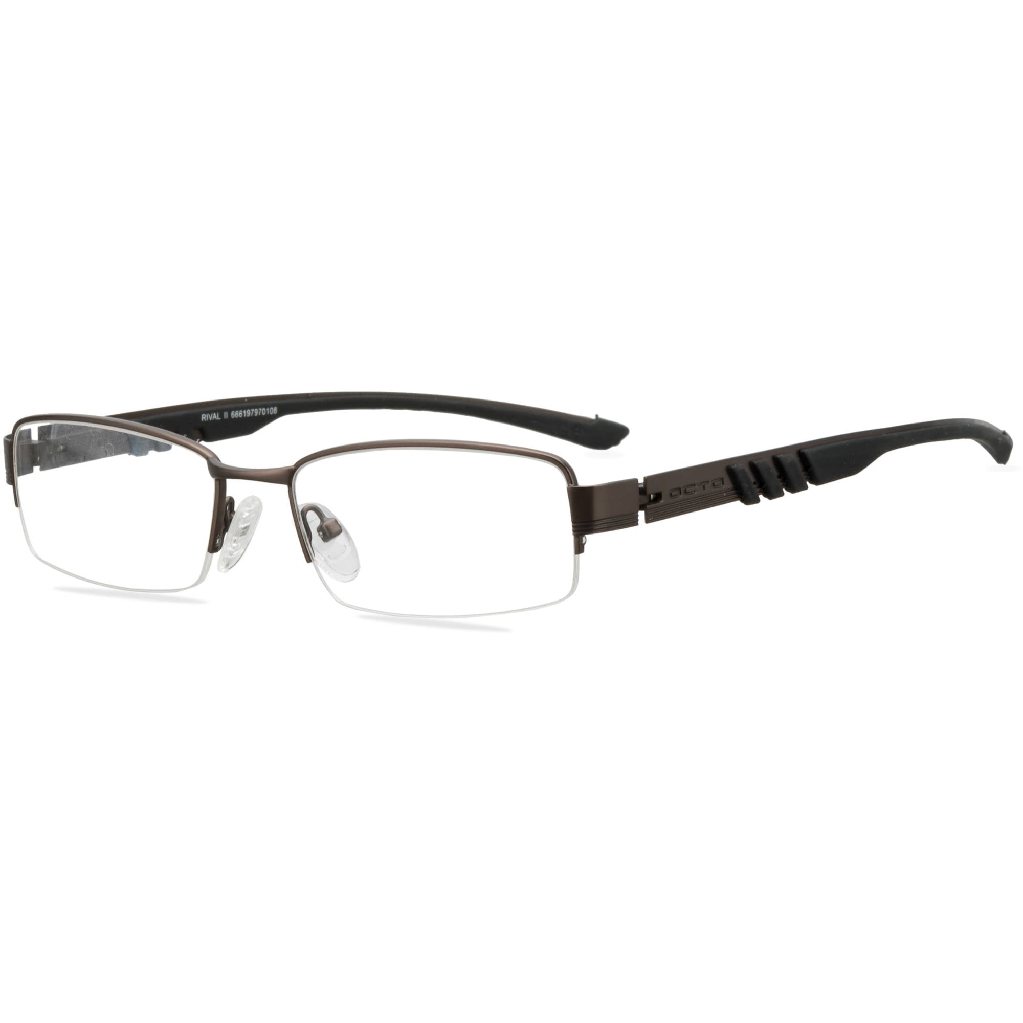 OCTO180 Mens Prescription Glasses, Rival II Mat. Gun/Blk - Walmart.com