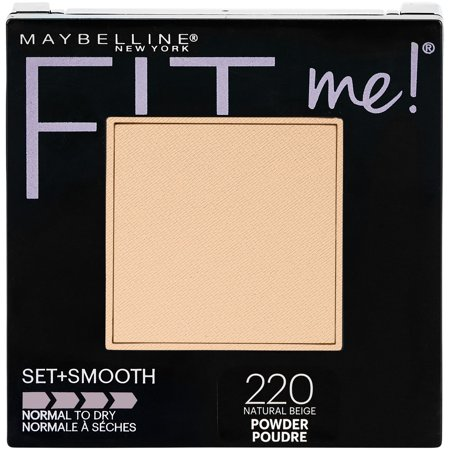 Maybelline Fit Me Set + Smooth Powder, Natural Beige (Dead White Face Powder)