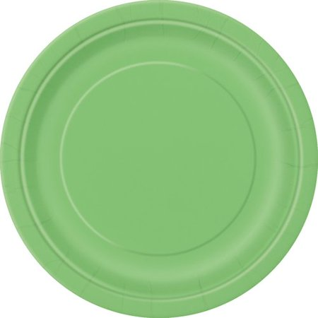 Paper Plates, 7 in, Lime Green, 50ct - Green Plates