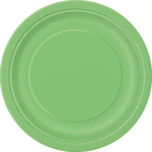 Paper Plates, 7 in, Lime Green, 50ct