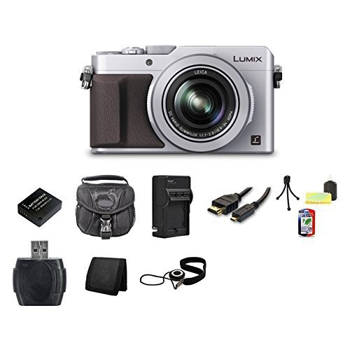Panasonic LUMIX DMC-LX100 Digital Camera (Silver) Bundle 1