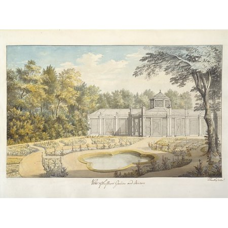 "View of Flower Garden and Aviary at Kew Poster Print by Thomas Sandby (British baptized Nottingham 1723  ""1798 Windsor) (18 x 24)"