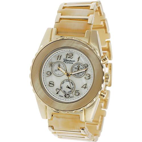 Geneva Platinum Ladies' Chronograph Style Link Watch