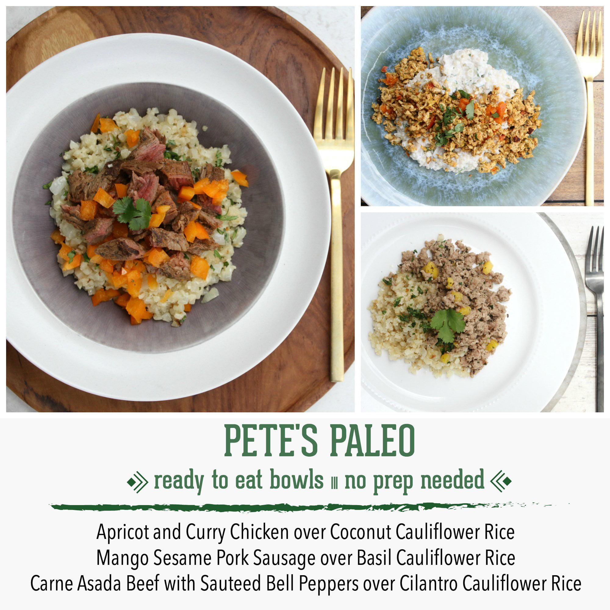 Pete's Paleo No Prep Organic Cauliflower Rice Bowls, Bundle of 3