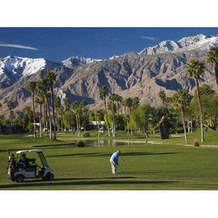 California, Palm Springs, Desert Princess Golf Course and Mountains, Winter, USA Print Wall Art By Walter Bibikow (City Of Palm Desert)