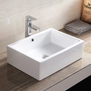 Topbath Rectangle Bathroom Ceramic Vessel Sink Bowl Basin