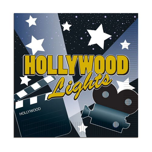 Hollywood Lights Lunch Napkins (16ct)