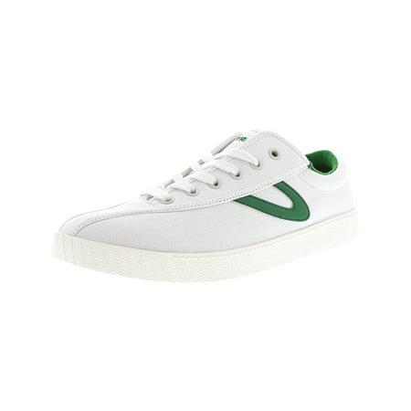 Tretorn Men's Nylite Plus Canvas Vintage White / Green Fashion Sneaker -