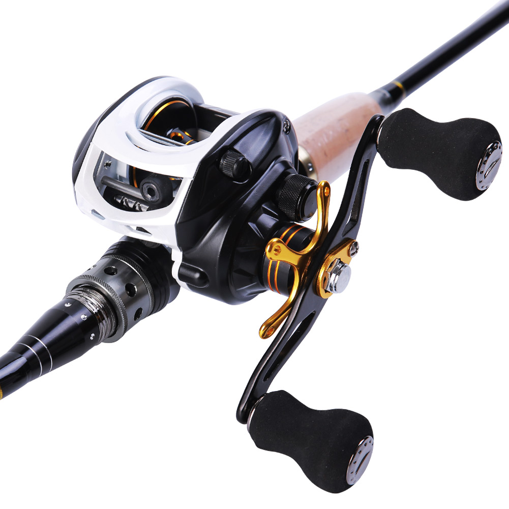 Sougayilang Baitcasting Reel with High Speed 9+1 Ball Bearings 7:1 Gear Ratio Baitcast Fishing Reel Baitcaster by