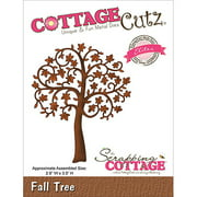 CottageCutz Elites Die Cuts, 2.9 by 3.5-Inch, Fall Tree Multi-Colored