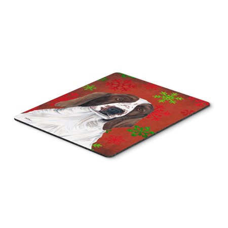 Welsh Springer Spaniel Snowflakes Christmas Mouse Pad, Hot Pad or Trivet