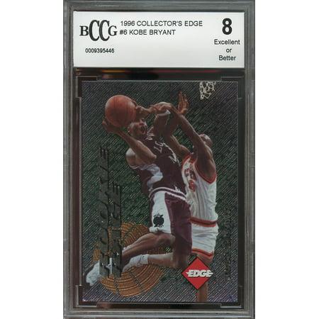 1996 Collectors Edge  6 Kobe Bryant Los Angeles Lakers Rookie Card Bgs Bccg 8