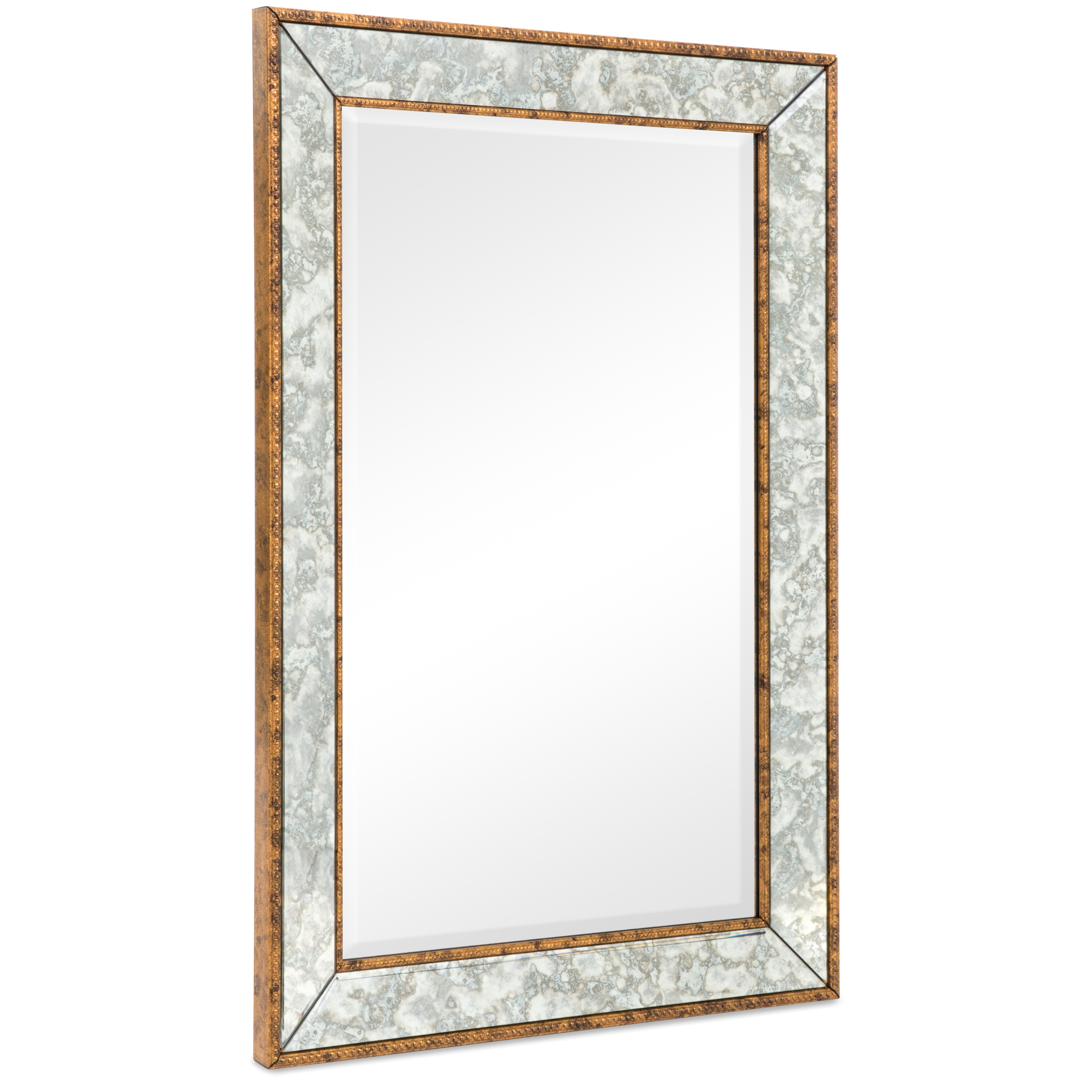"""Best Choice Products 36""""x24"""" Rectangular Bedroom Bathroom Entryway Decorative Wall Mirror (Brown)"""