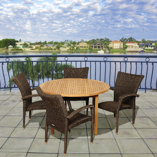 International Home Miami Plover 5 Piece Dining Set