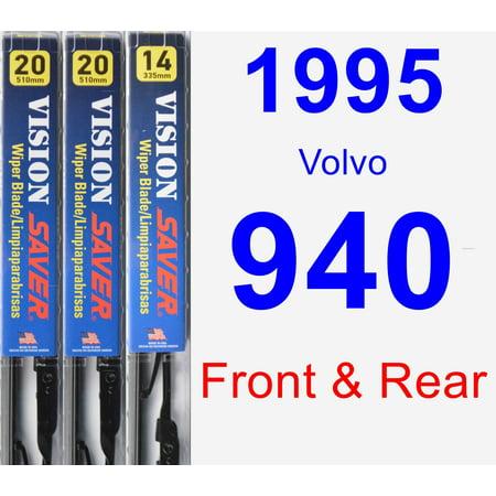 1995 Volvo 940 Wagon (1995 Volvo 940 Wiper Blade Set/Kit (Front & Rear) (3 Blades) - Vision)