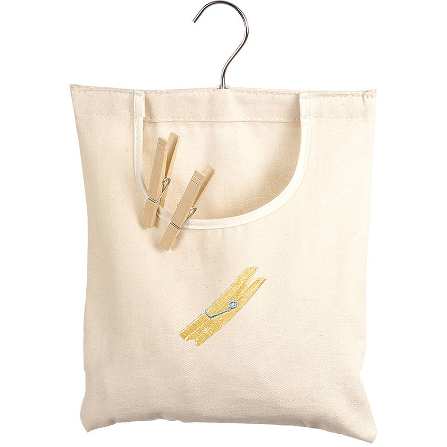 Whitmor 6462-789 Natural Canvas Clothespin Bag