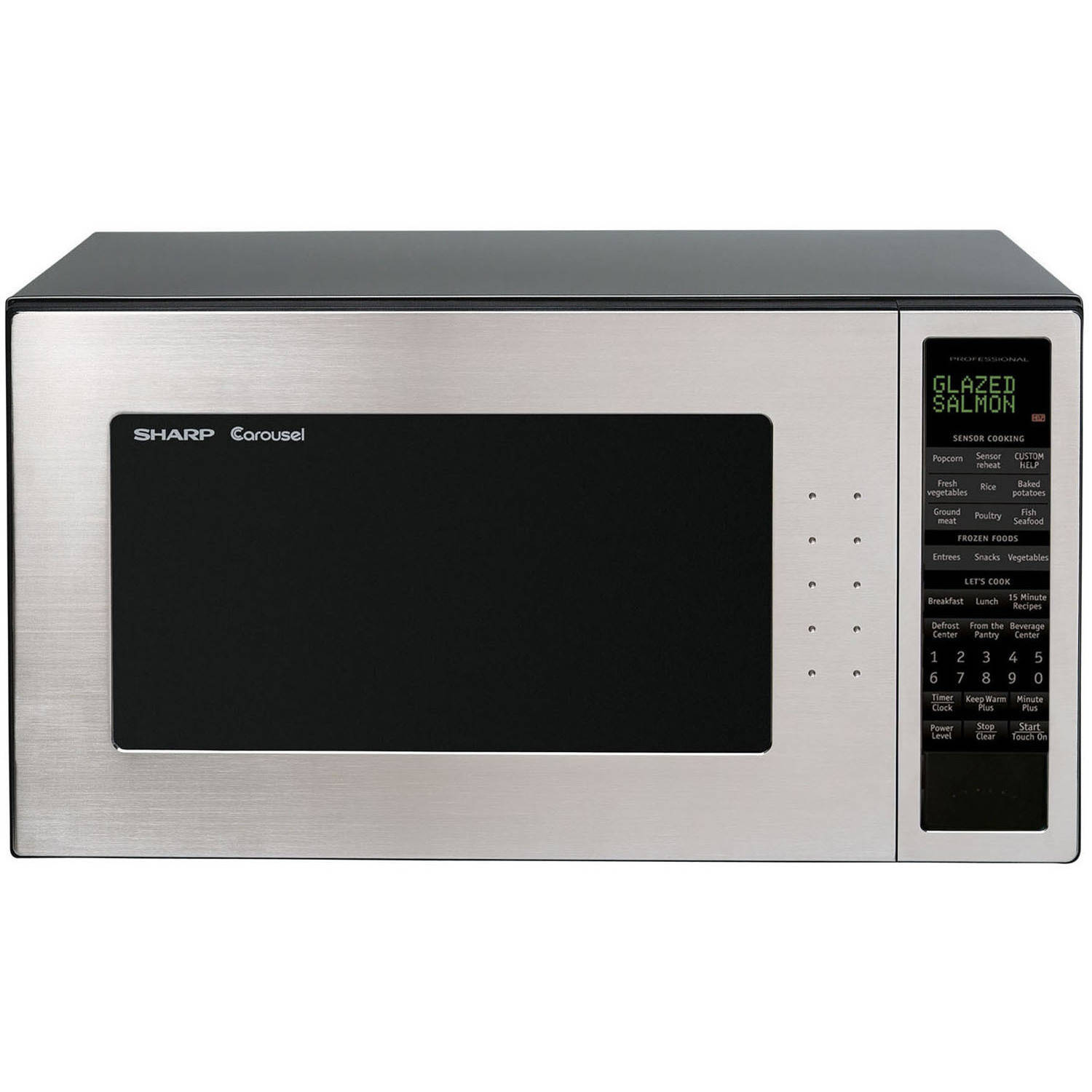 Sharp R530est 2 0 Cu Ft 1200w Full Size Microwave Oven Stainless Steel