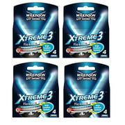 Wilkinson Sword Xtreme3, 4 Count Refill Razor Blades (Pack of 4) + Yes to Coconuts Moisturizing Single Use Mask