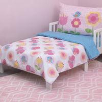 "Little Love by NoJo Kids/Nursery Plush Pink Rug, 5'9"" x 3'9"", Pink Trellis pattern"