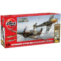 1:72 Supermarine Spitfire Mk1a/Messerschmitt Bf109E-4 Gift Set (A50135), 1:72 scale plastic scale model kit By Airfix