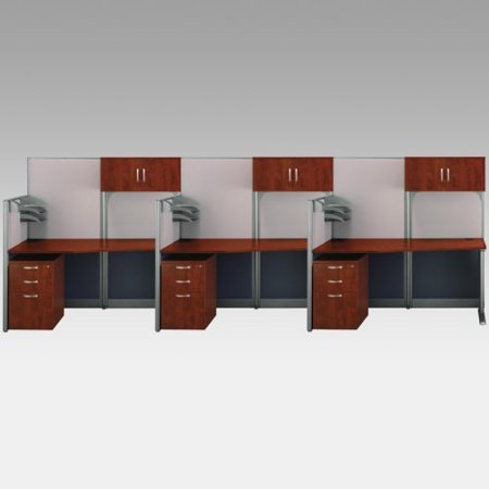 Bush Office In An Hour Triple Computer Desk Storage 5488 Product Photo