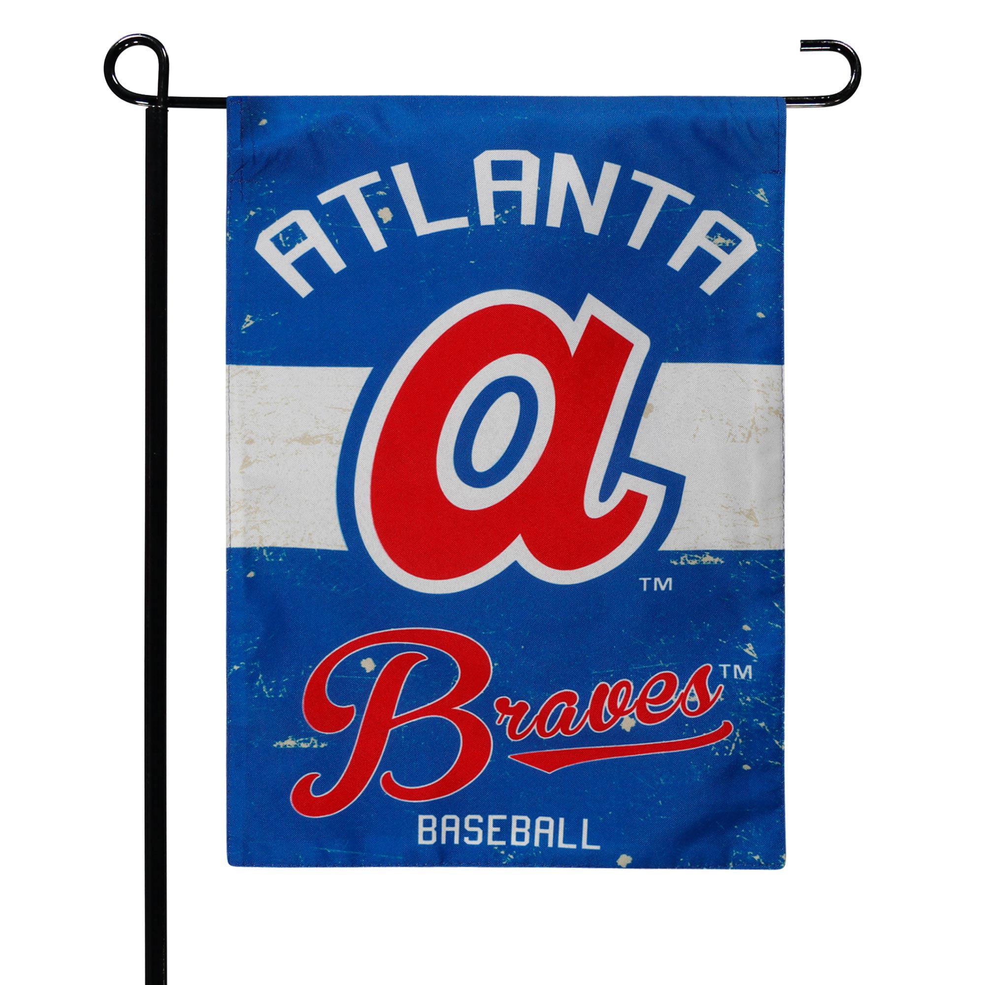 """Atlanta Braves 12.5"""" x 18"""" Vintage Linen Garden Flag - No Size"""