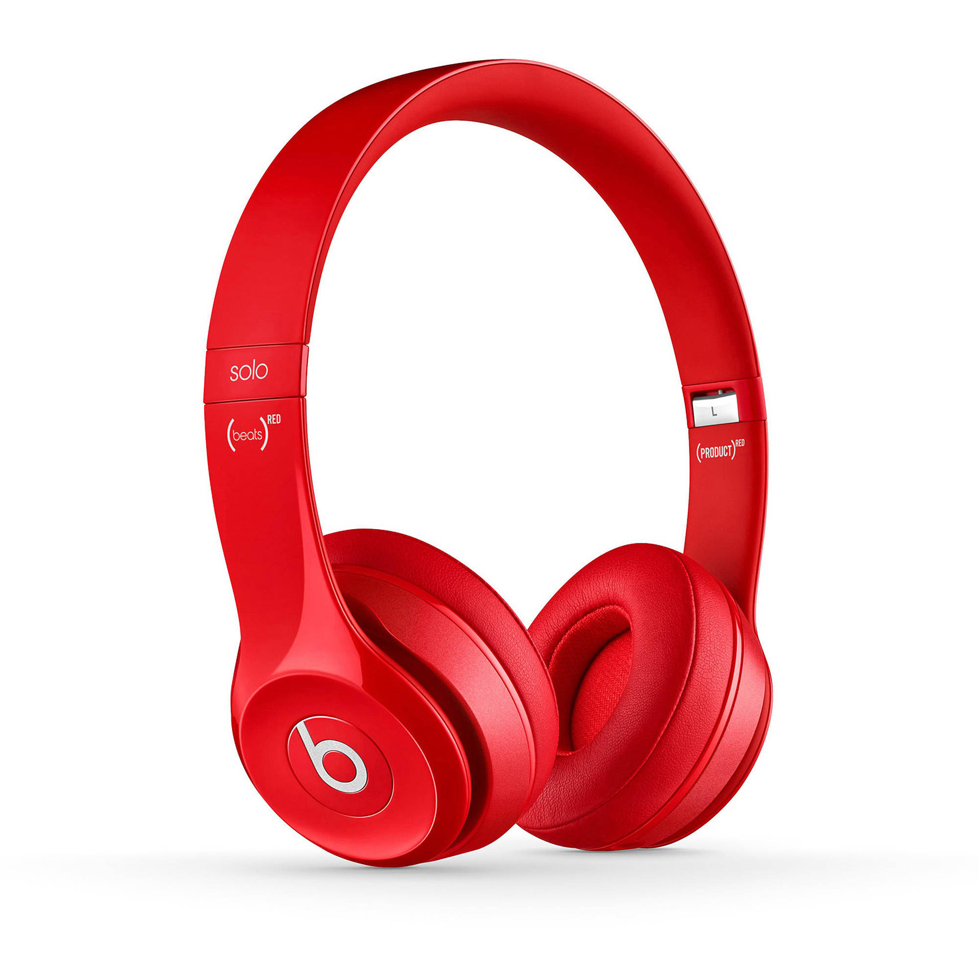 Refurbished Beats Solo 2 On-Ear Headphones, Red