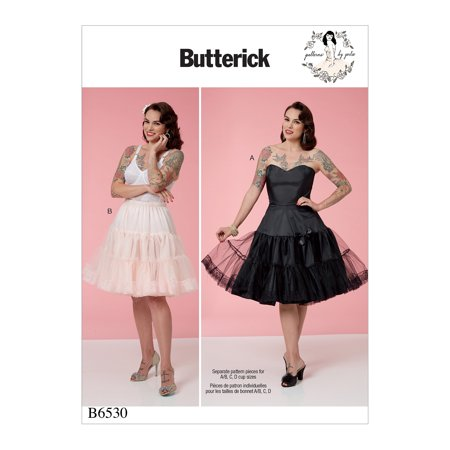 Butterick Pattern Misses' Full Slip and Petticoat-6-8-10-12-14
