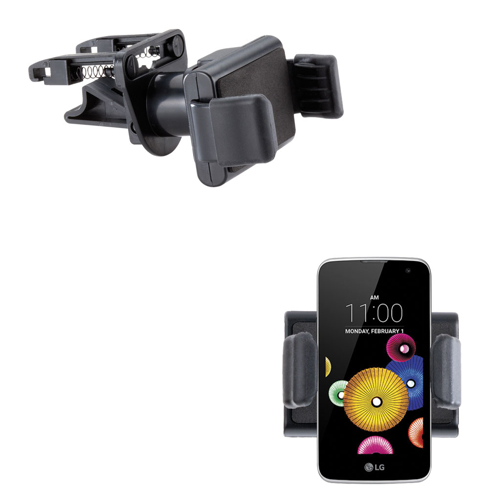 Gomadic Ultra Compact Air Vent Clip Based Cradle Holder Car / Auto Mount suitable for the LG K4