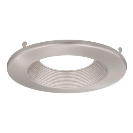 Maxxima 6 in. Brushed Nickel Trim Attachment for MRL-61450 LED Retrofit Downlights