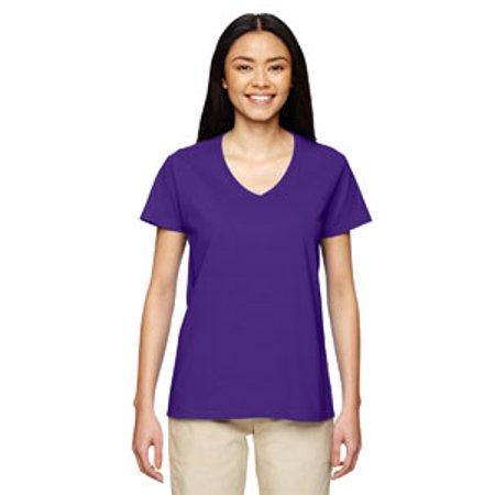 Gildan Ladies' 5.3 oz. V-Neck T-Shirt - Gildan Ladies Tee