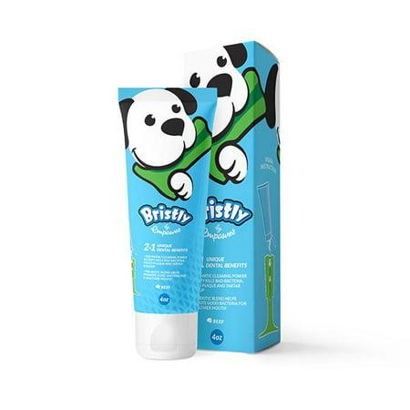 Bristly Pre-Biotic Dog Toothpaste (Enzymatic Toothpaste Freshens Dog's Breath)