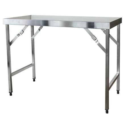 Sportsman Series Stainless Steel Portable Folding Work Table (Stainless Steel Folding Table)