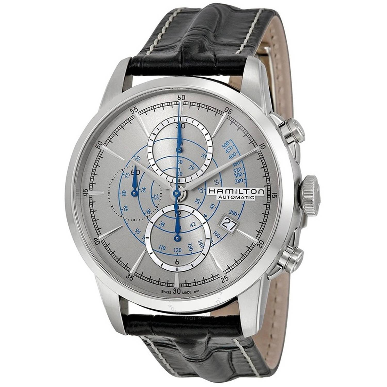 Hamilton Railroad Chronograph Automatic Leather Men's Watch, H40656781 by Hamilton