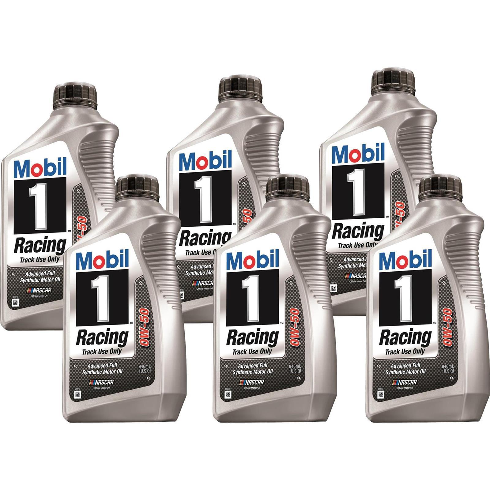 Mobil1 104145 Racing Engine Oil, 0W-50, 6 Quarts