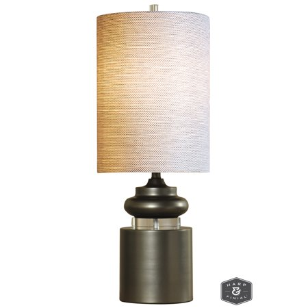 GwG Outlet Meridian Table Lamp in Satin Silver Finish