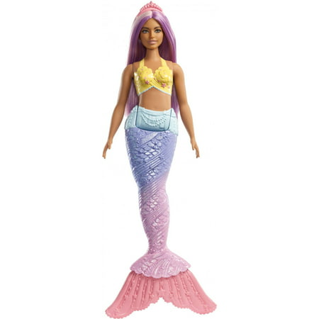 Barbie Dreamtopia Mermaid Doll with Long Purple Streaked - Doll Divine Mermaid