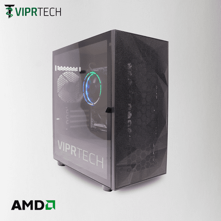 ViprTech Blackout Gaming PC Desktop Computer - AMD A10 (10-Core), AMD Radeon R7 2GB Graphics, 8GB DDR4 RAM, 500GB HDD, WiFi, RGB