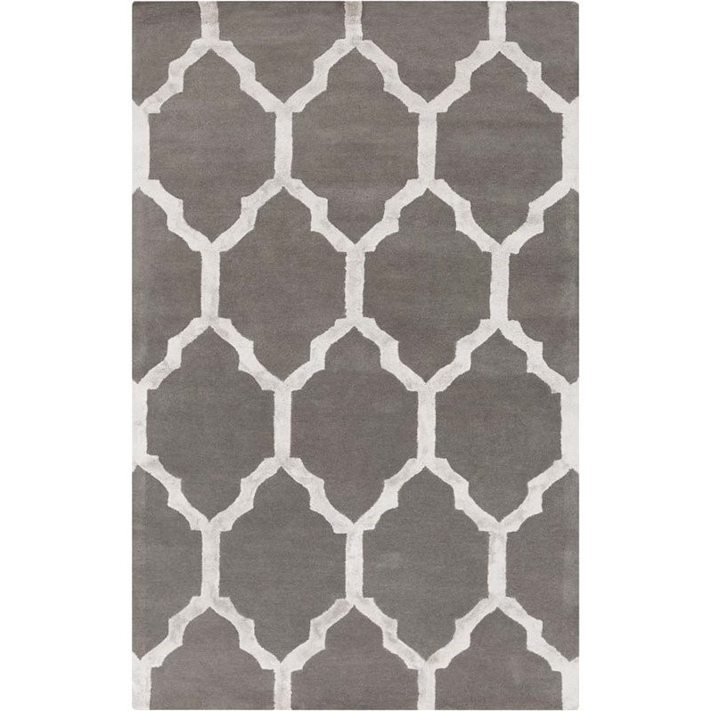 Surya Skyline 8' x 10' Hand Tufted Wool Rug in Gray