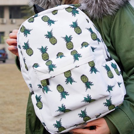 Fresh Style Women Backpacks Pineapple Print Bookbags Female Travel Backpack - Pokemon Bookbag