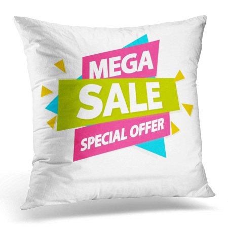 ARHOME Deal Sale with Sign Mega Special Offer for Advertisement Tag Hot Price Discount White Sticker Pillow Case Pillow Cover 20x20 inch