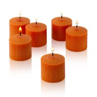 Light In the dark Orange Unscented Votive Candles Set of 12 Burn 10 Hours