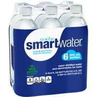 (2 Pack) Smartwater Vapor Distilled Water, 16.9 Fl Oz, 6 Count