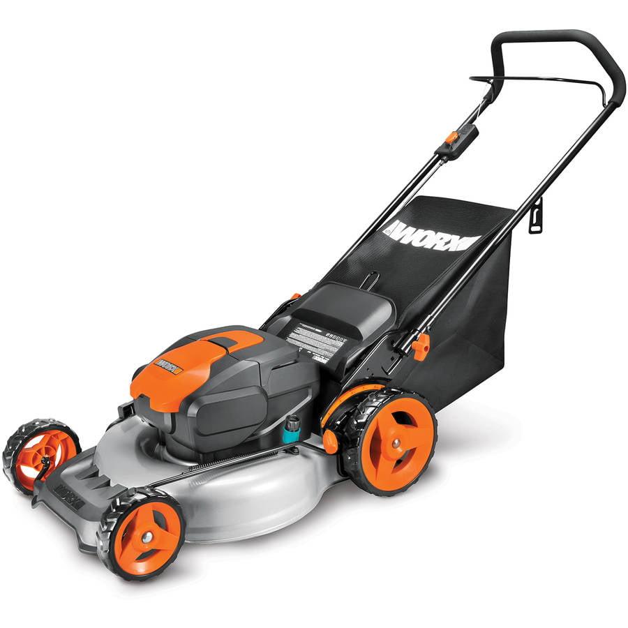 "Worx 19"" Electric Lawn Mower, 12 Amp"